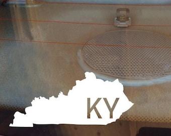 Kentucky Car Decal, State Decal, Kentucky Decal, Laptop Sticker, Laptop Decal, Car Sticker, Car Decal, Vinyl Decal, KY, Window Sticker