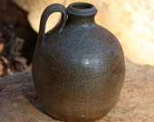 Salt Glazed Round Pottery Jug Seagrove NC Traditional Pottery