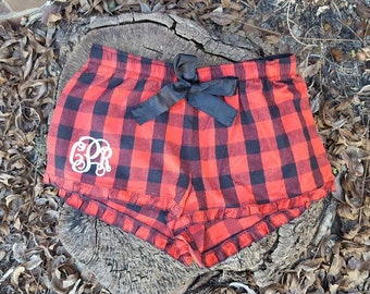 Buffalo Plaid Monogrammed Boxers