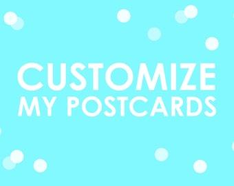 Customize My Postcards
