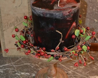 Candle~Handcrafted Candle~ Tranquil Moments~ Dragon's Blood Orange Candle~ Round  Pillar  ~XX LARGE   6 x 6 ~Triple Wicks