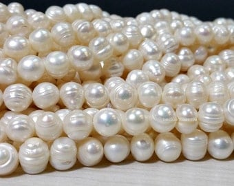 SALE Full Strand 7 to 8 Freshwater Pearl Small Baroque Beads (G3342R5-T)