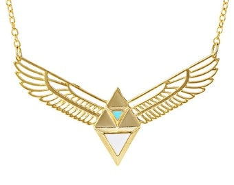 Egyptian Gold Statement Necklace