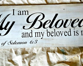 Wood Sign, Wedding Sign, Inspirational Sign, Bible Verse