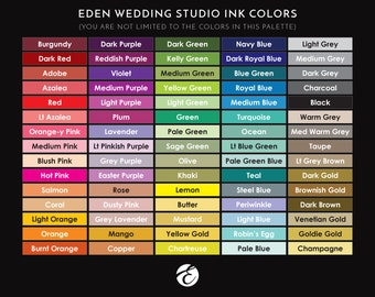 EDEN WEDDING STUDIO | Color Palette