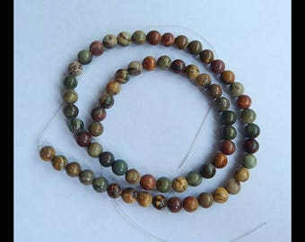Multi-Color Picasso Jasper Loose Beads,1 Strand,40cm In the Lenght,6x6mm,23g(c0689)