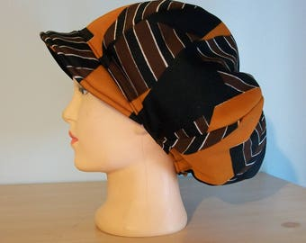 Men Womens Vintage Hat Apple Newsboy Black Gold Brown White Polyester