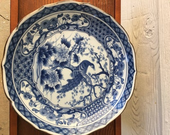 "Vintage Imari  Porcelain Peacock Collectible Plate 10"""