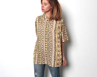 90s fresh prince 90s abstract SURF slouchy WILD baroque oversize blouse shirt