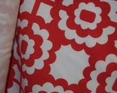 Red Print Cotton Lycra Fa...