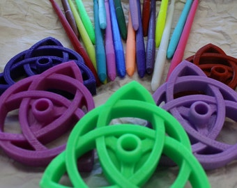 Triquetra Bottom Whorl Spindle 3D Printed