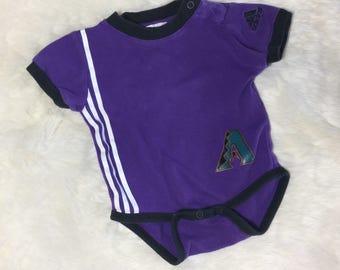 Vintage 90s Origami Arizona Diamonbacks Baseball addidas onesie Throwback Colors