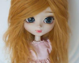 Golden Blonde Tibetan Mohair Wavy Wig for Volks BJD SD and Pullip Dolls
