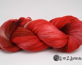 Hand Dyed Royal Baby Alpaca Yarn Lace Weight 1675 yards Red Wine Dessert