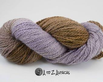 Hand Dyed Chunky Weight Alpaca Yarn - Made in Canada- #01
