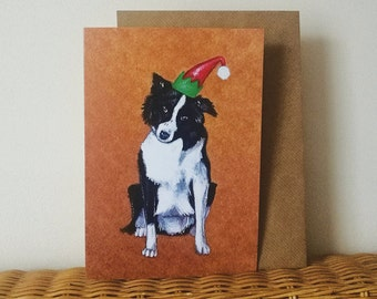 Border Collie - Christmas Card