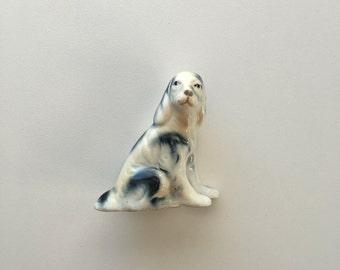 Dog Figurine Blue and White