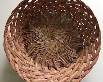 Vintage basket , vintage bowl, large basket , woven bowl,woven, boho decor , boho home