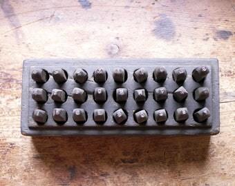 Vintage Geo T Schmidt Inc. Hi Duty Metal Alphabet Punch Set - 3/32 Inch Industrial Steel Letter Punches