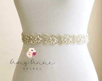 Bridal belt, wedding belt, bridal sash, wedding sash, rhinestone sash, crystal belt, rhinestone bridal belt - bridal sashes and belts