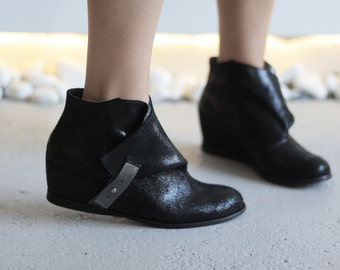 JACKIE - Black color - Handmade Women Shoes with winter sale price