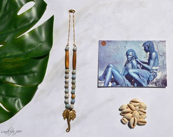 Emiloa tribal necklace tribal jewelry ethnic jewelry afrocentric jewelry african jewelry african necklace ethnic necklace tribl necklace