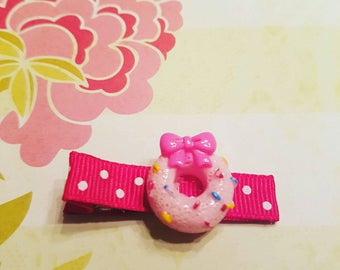 Baby Hair Bows, Baby Hair Clips, Hair Clips For Baby,  Toddler Girl, Infant Hair Clips Donut Delight