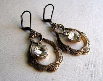 ON SALE Vintage Style Earrings Boho Jewelry Rhinestone Earrings Boho Earrings Romantic Earrings Casual Earrings Fashion Earring Boho Fashion
