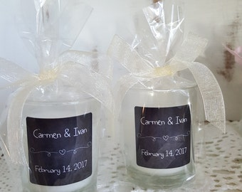 Candle Favors, wedding favors, votive candles set of 30