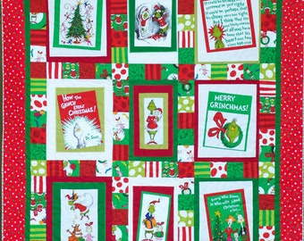 How the Grinch Stole Christmas Quilt - 10% off!