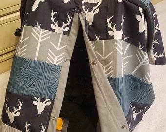 Car seat Canopy Buck Bark Arrow Strip Work Cover