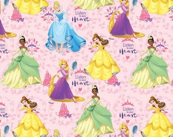 Disney Princess, Listen To Your Heart, Springs Creative Fabric, 1/2 Yard