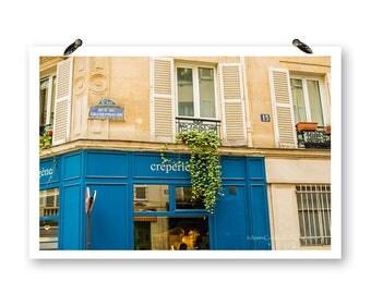 Paris France, Fine Art Photography, Paris Photography, Spring Print, Travel Photos, Paris Creperie, Paris Street Photos, Paris Wall Art,