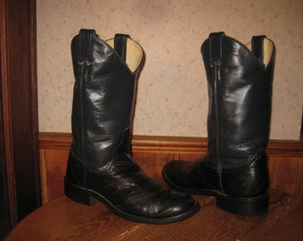 Larry  Mahan's     BOOT  COLLECTION    Made In Texas     Womens  6.5  B     Eel Skin  &  Leather   Western Boots