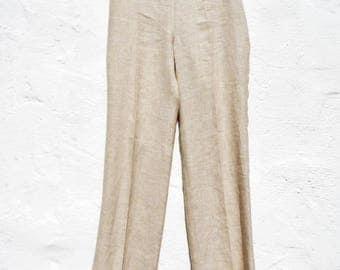 Linen pants linen trousers cigarette pants straight leg linen pants pleated linen pants formal linen pants elegant linen pants organic pants