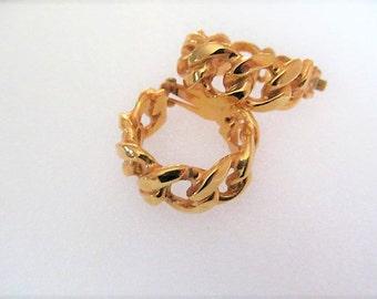 KJL Kenneth Jay Lane Clip Earrings, Gold Tone Rope Chain Design