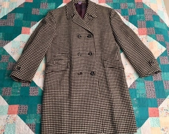 1960's Men's Houndstooth Black and White Jacket