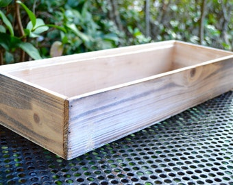Wooden Box Planter Only ~ DIY ~ Build your own Miniature Garden ~ Fairy Garden Box ~ Wood Planter ~ Fairy Garden Supplies ~ Box Only