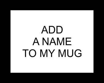 Personalize Mug Order