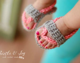 Baby Strap Flip Flops Crochet Pattern PDF DOWNLOAD