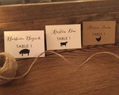 Wedding Escort Cards, Wedding Place Cards, Table Tents Name Cards with Meal Choice for your Weddings or Event, Rustic Wedding Name Cards
