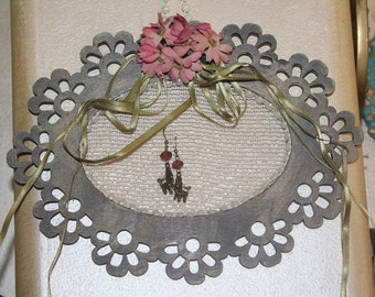 Earrings Hanger, Wall frame, wall decor, home decor, earring display, earring organizer, earring holder, jewelry display, jewelry organizer