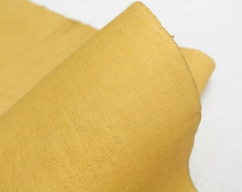 Vintage Japanese Hand Woven Cotton. Natural Botanical Dye. Yellow Fall Colors. (Ref: 1590)
