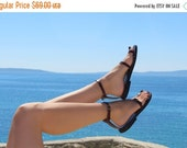 10% off Toe Ring Ankle Strap Barefoot Handmade Leather Sandals With Buckles - Breeze