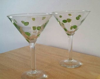 Olive Dirty Martini Glass Set- Personalization Available!