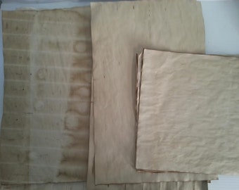 10 large sheets of coffee dyed papers for crafts | practice calligraphy | calligraphy paper