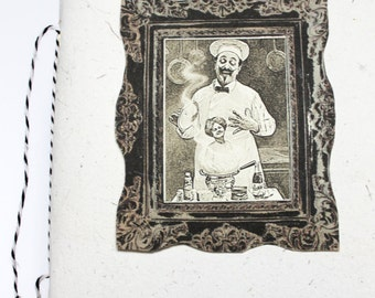 Recipe book / Recycled paper / Potions / Secrets / Black and White / The Naughty Cook's Recipe Book