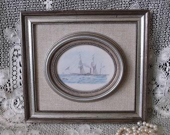 Vintage Nautical picture, Coastal decor, beachhouse decor, Lakehouse decor