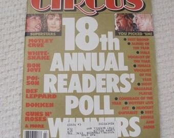 Vintage Circus Magazine February 1988 - BVince Neil Motley Crue Centerfold