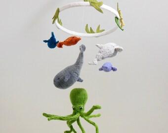 Ocean Baby Mobile, Baby Mobiles, Sea Creatures Mobile, Fish Mobile, Whale mobile, Ocean Nursery, Sea, Ocean Nursery Decor, Dolphin Mobile,